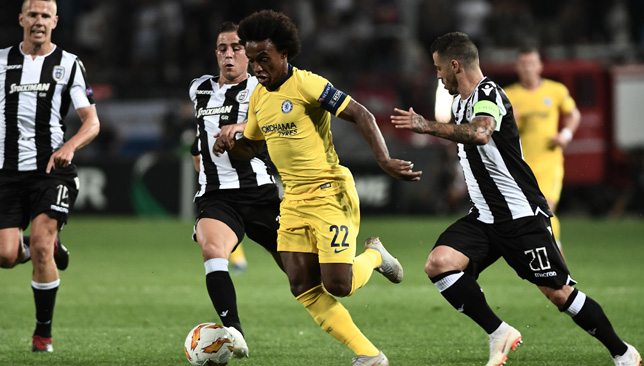 Willian leads from the front to help Chelsea win Europa League opener - Dotemirates