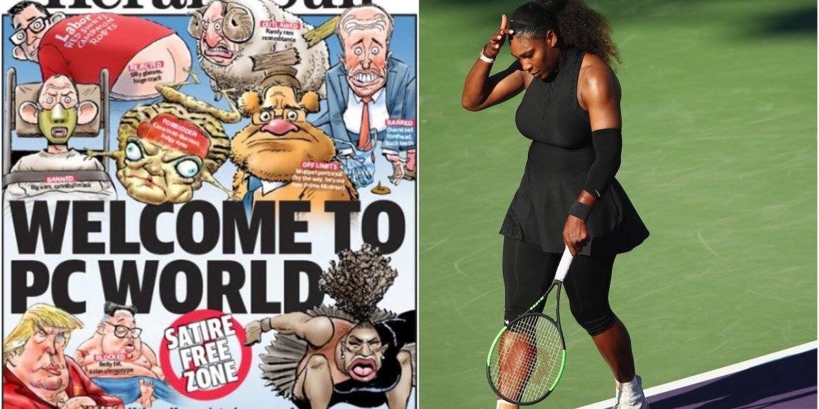 The Australian newspaper that released the controversial 'angry baby' Serena Williams cartoon has hit back at 'self-appointed censors' by republishing it on its front page - Dotemirates
