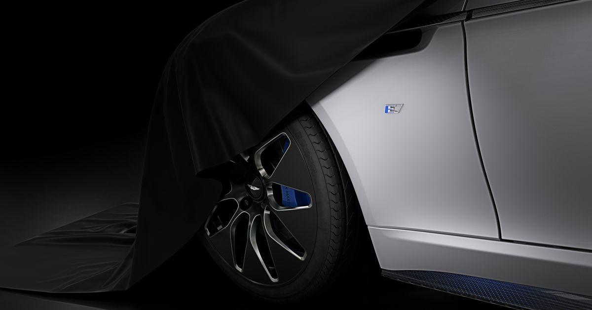 Aston Martin teases its first battery-electric sports car, the Rapide E - Dotemirates